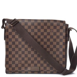 Louis Vuitton Ebene District MM Messenger Bag